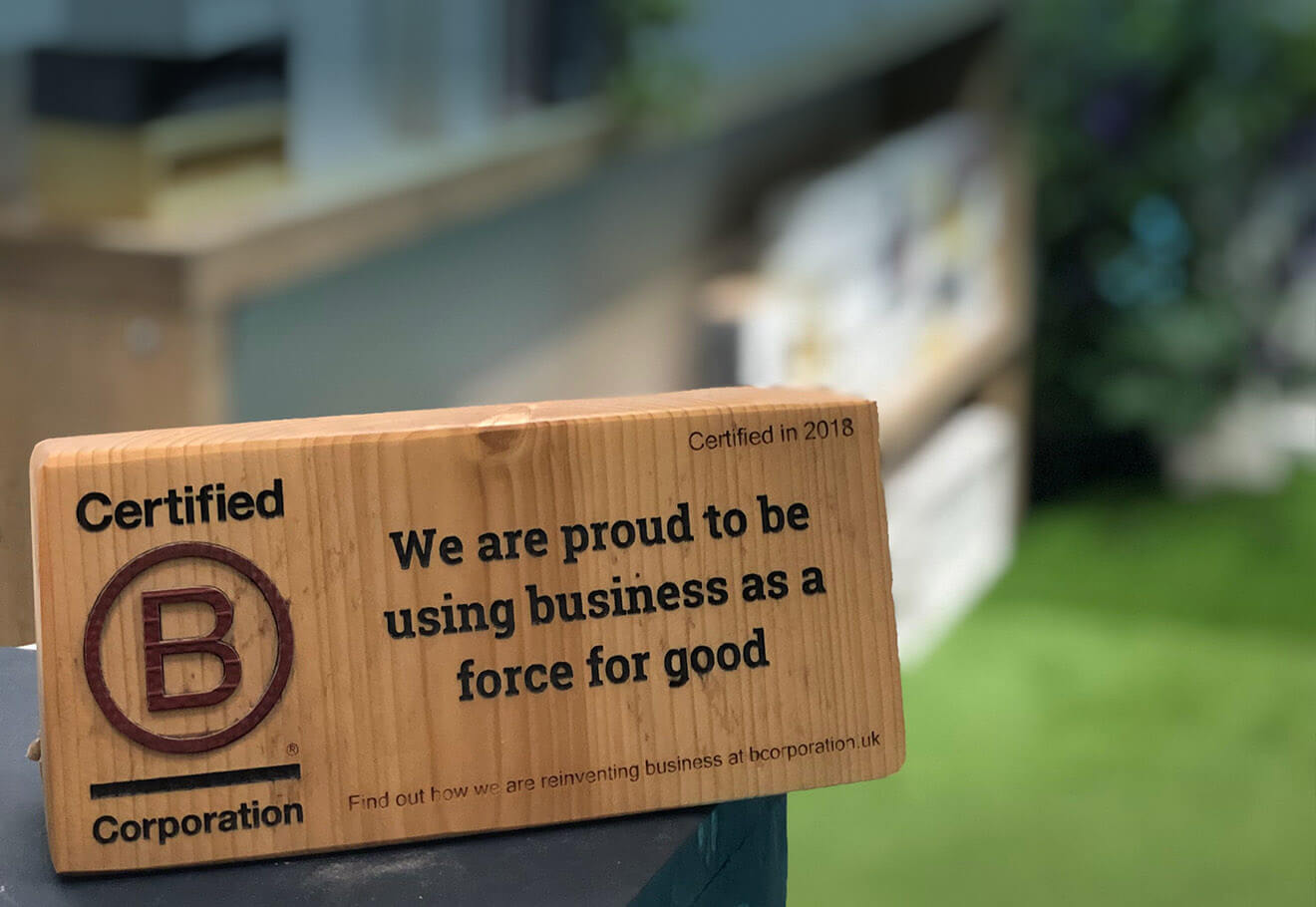 B Corp Certification Sign