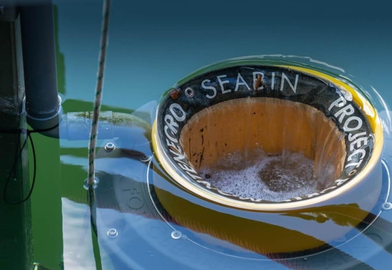Seabin collecting marine debris in marinas