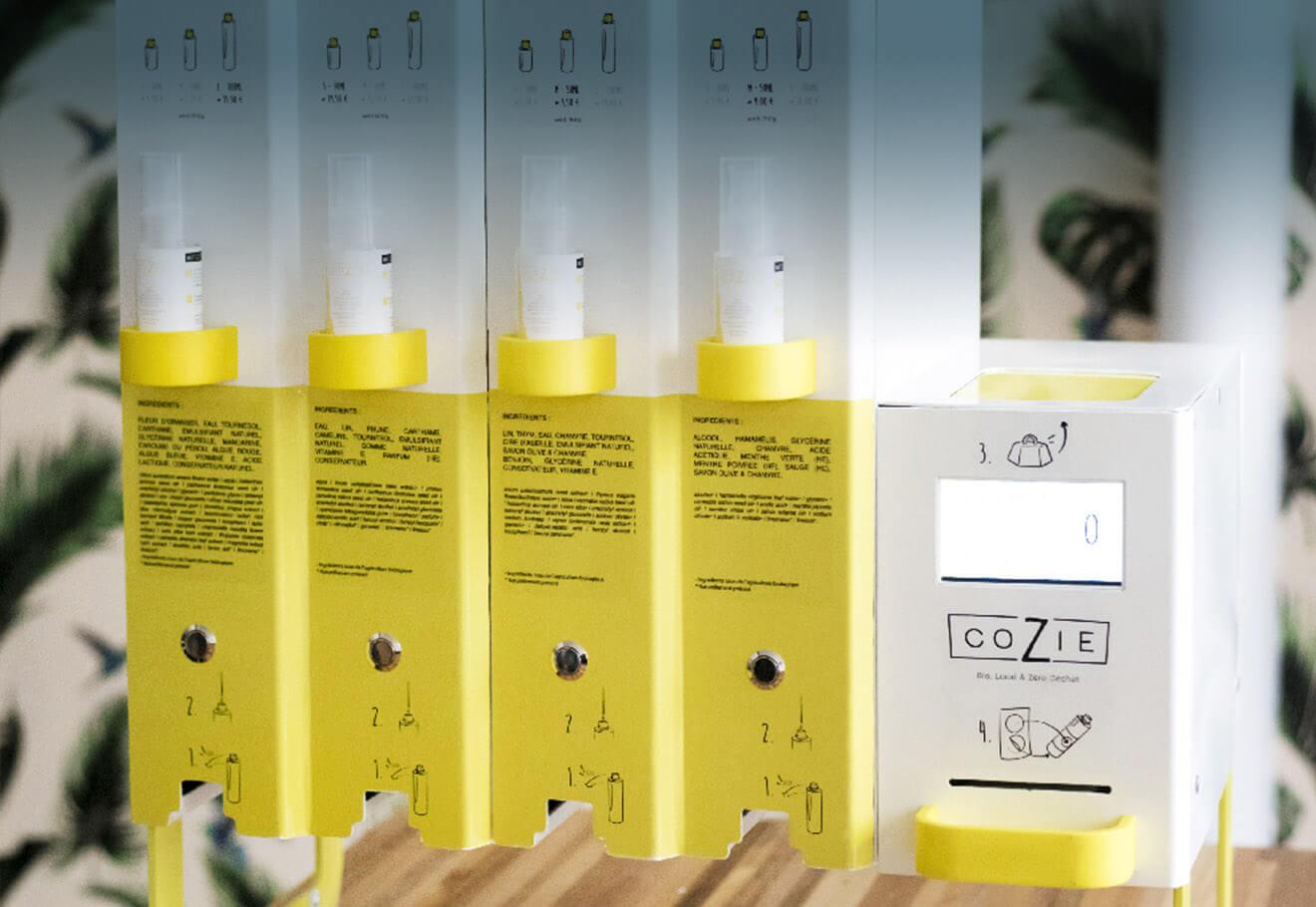 Bulk cosmetic dispensing machine