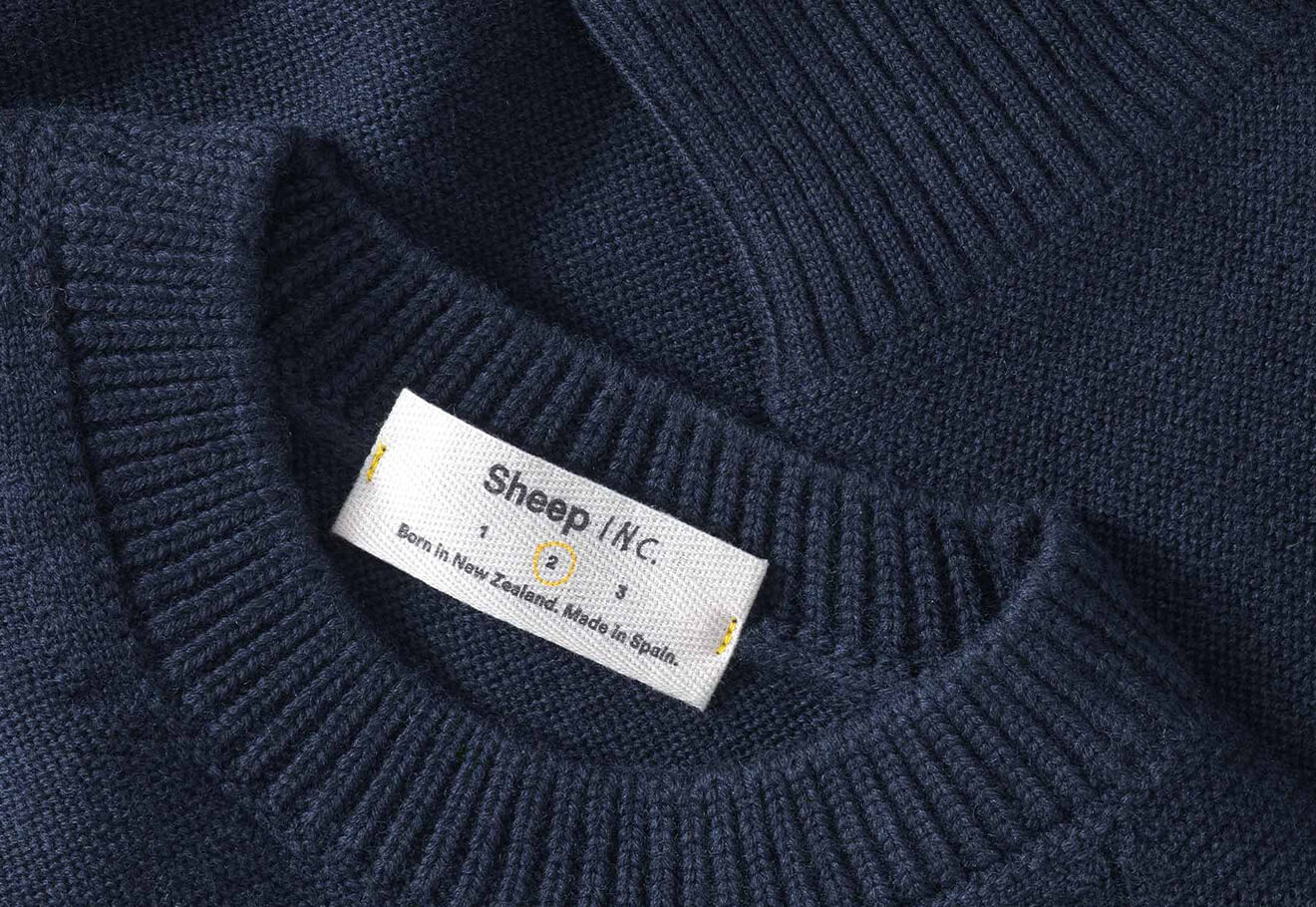 Carbon negative sweater made from wool