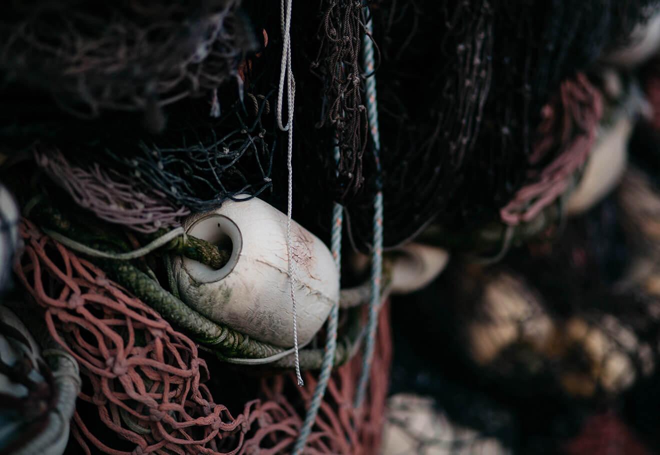 Mix of fishing nets