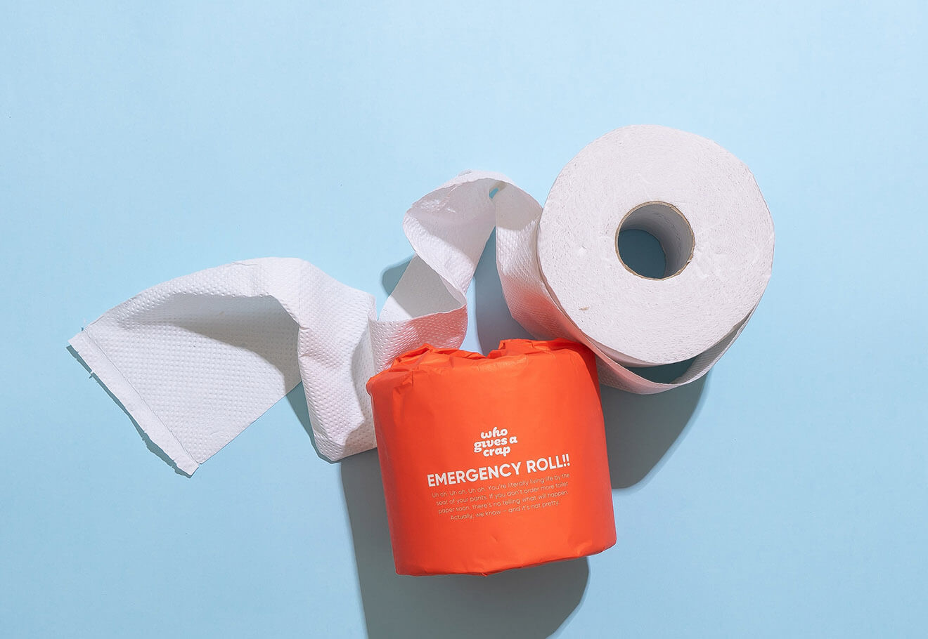 Plastic-free toilet paper roll